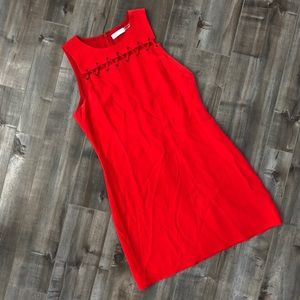 Ramy Brook lace up detail sleeveless shift dress